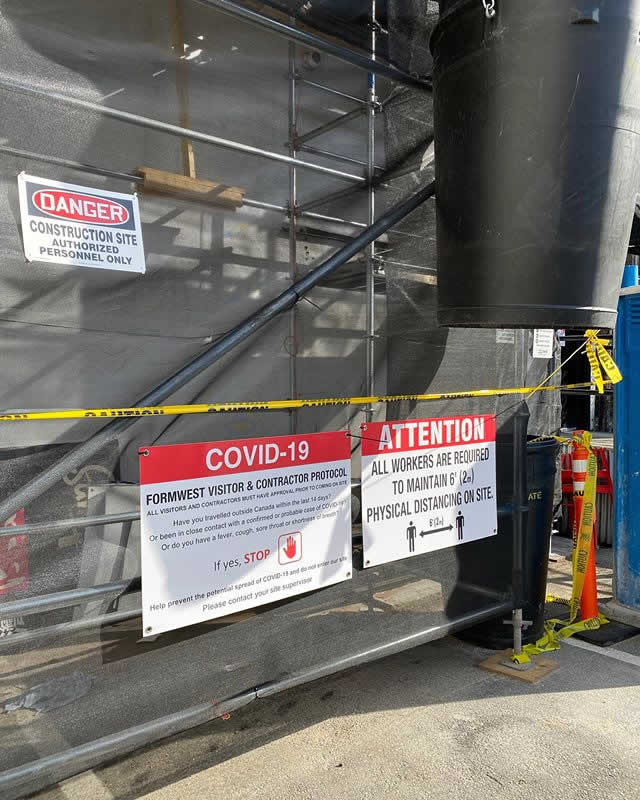 Controlling the risk of COVID-19 Exposure in Construction